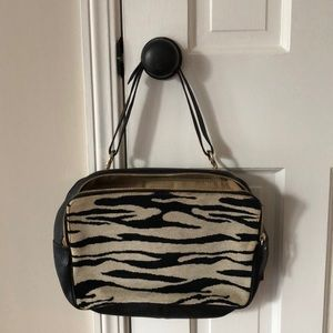 Kate Spade black and white print & leather bag